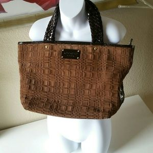 Kate Spade large Woven Leather Tote